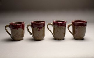 Amanda Lavigne: 'drip mugs', 2017 Wheel Ceramics, .