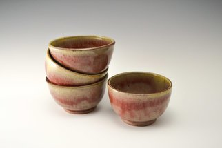 Amanda Lavigne: 'red bowls', 2017 Wheel Ceramics, .