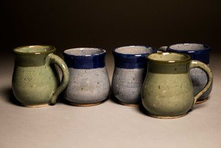 Amanda Lavigne: 'set of mugs', 2017 Wheel Ceramics, .