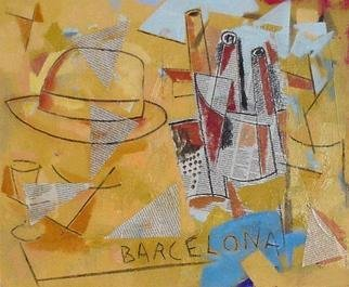 Collage by Jose Luis Lazaro Ferre titled: Barcelona I, created in 2003