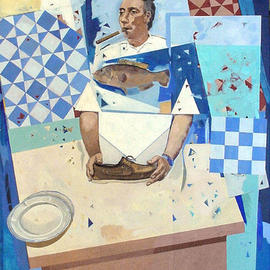 Jose Luis Lazaro Ferre: 'The Grand Chef', 2003 Oil Painting, Figurative.