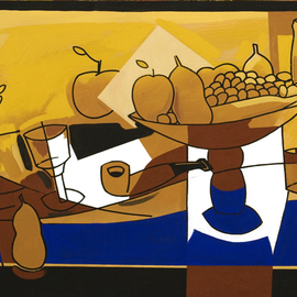 Jose Luis Lazaro Ferre: 'The joy of living', 2008 Acrylic Painting, Still Life.