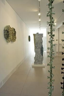 Linda Casbon: 'Installation View: Untitled and Columns', 2012 Handbuilt Ceramics, Abstract.    installationsculptural organicwall work materiality ceramic    ...