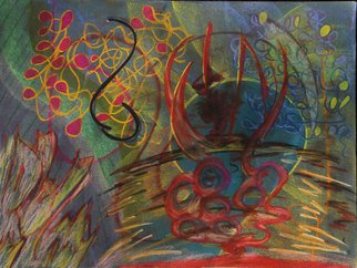 Leandro Arruda: 'dancing people', 2013 Pastel, Abstract Figurative. Artist Description:      dry pastel abstract art       ...