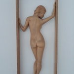 framed female nude By Lee Forester