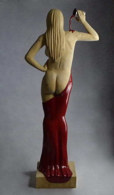 Lee Forester  'Lady In Red', created in 2020, Original Sculpture Wood.