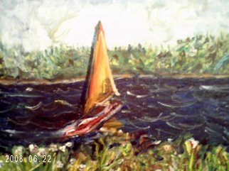 Leroy Norwood Artwork THE BOAT, 2008 Acrylic Painting, Boating