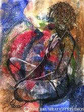 - artwork Meditation-1213084392.jpg - 2002, Watercolor, Figurative