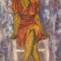, Wallflower, Figurative, $1,155