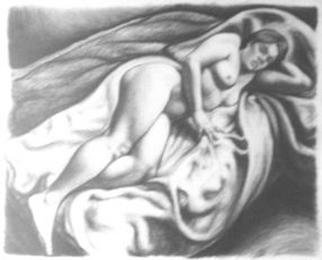 Javier H Leguizamon R Artwork Study No 5, 2002 Charcoal Drawing, Nudes
