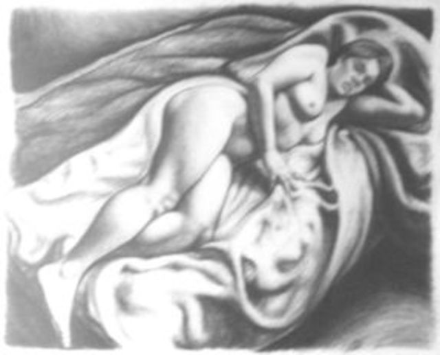 Artist Javier H Leguizamon R. 'Study No 5' Artwork Image, Created in 2002, Original Drawing Charcoal. #art #artist