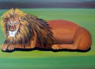 Rita Levinsohn: 'lion fading', 2015 Acrylic Painting, Animals. Lions are endangered...