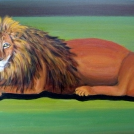Rita Levinsohn: 'lion fading', 2015 Acrylic Painting, Animals. Artist Description: Lions are endangered...