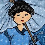 Asian Snow Princess By L Gonzalez