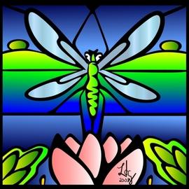 Dragonfly Tiffany Style