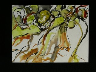 Leigh Yardley: 'Fall Series', 2007 Acrylic Painting, Abstract Landscape.  End of the garden season; fluid acrylic on panel.   ...