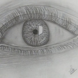 eye realistic drawing By Lekshmy Sathi