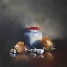 Daniele Lemieux: 'Home Comforts', 2007 Oil Painting, Still Life.