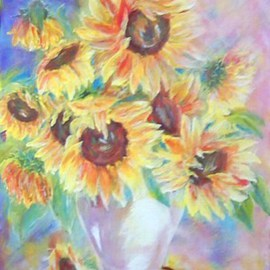 Larsen Lena: 'Sunshine and Smiles', 2008 Acrylic Painting, Still Life. Artist Description:  Original Acrylic painting on canvas stretched on wood,  framed.  This is new painting, not a print, but 100% hand painted.  ...