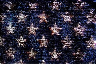 Leonard Te Nyenhuis: 'Stars of America', 2011 Giclee, Political.                 This is an over painted altered foto that has been enhanced on the computer. It is printed out, painted over, and reworked several times. I use all possibilities to create my images, what matters to me is the end result, the originals are usually 10 x 15  cm. They are...