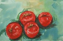 - artwork Bright_Red_Apples-1276978560.jpg - 2008, Watercolor, Still Life