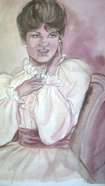 Lenore Schenk  'Old Fashion Maiden', created in 2002, Original Drawing Other.