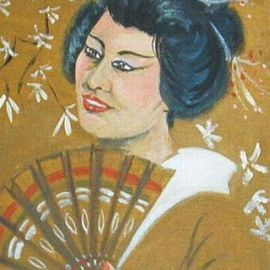 Lenore Schenk Artwork Oriental  young lady, 1993 Acrylic Painting, People