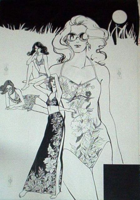 Lenore Schenk  'Swim Suits', created in 1984, Original Drawing Other.