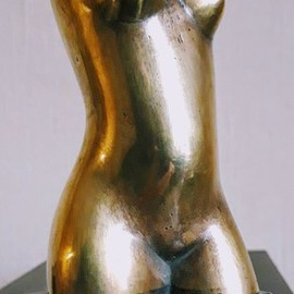 Leonid Shatsylo: 'female torso', 2019 Bronze Sculpture, Nudes. Artist Description: beautiful sculpturefemale torso...