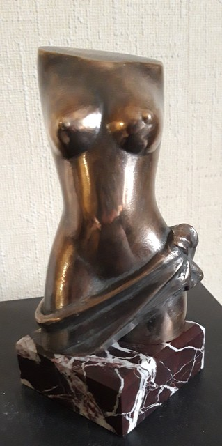 Leonid Shatsylo  'Female Torso', created in 2019, Original Sculpture Bronze.