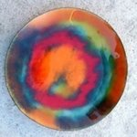 Colour Fusion Glass On Copper 10 L, Leo Evans