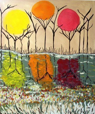 Leo Evans Artwork Enchated landscape 3, 2005 Acrylic Painting, Abstract Landscape