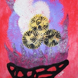 Leo Evans: 'FLORAL PICASSO', 2010 Acrylic Painting, Floral. Artist Description:                                      FLORAL PICASSO ~ All rights reserved ~ Leo Evans ~ 2010                                               ...
