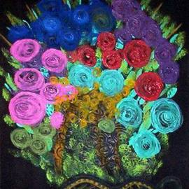 Leo Evans: 'FLORAL SPECTACULAR', 2005 Acrylic Painting, Floral. Artist Description: