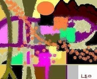Leo Evans: 'FONTANA RISING UP', 2004 Computer Art, Abstract.