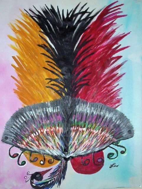 Artist Leo Evans. 'HOLLYWOOD BLACK PEACOCK' Artwork Image, Created in 2006, Original Photography Color. #art #artist