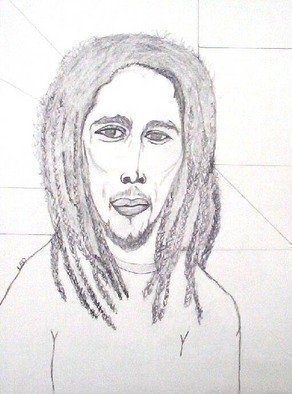Leo Evans: 'MR BOB MARLEY 1', 2006 Other Drawing, Famous People.  A warrior, a philosopher, a poet, a great musician, and a Legend, I didn't know Mr. Marley personally. . . but I wish I had, don't know his personal and family life. . . but he is well respected by his Sons and Daughters. . . and his fellow country men. . . I' ve listened...