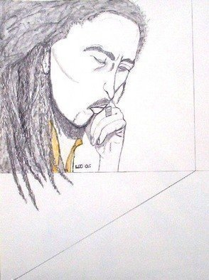 Leo Evans: 'MR BOB MARLEY 4', 2006 Other Drawing, Famous People.  A warrior, a philosopher, a poet, a great musician, and a Legend, I didn't know Mr. Marley personally. . . but I wish I had, don't know his personal and family life. . . but he is well respected by hisSons and Daughters. . . and his fellow country men. . . I' ve listened...