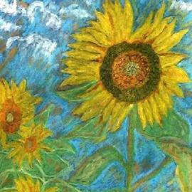 Leo Evans Artwork MY SUNFLOWER OBP, 2005 Charcoal Drawing, Floral
