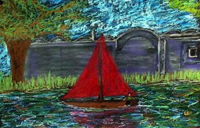 Leo Evans  'RED SAIL', created in 2006, Original Photography Color.