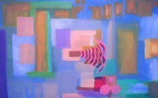 Leo Evans: 'RENEWED', 2003 Acrylic Painting, Inspirational. This painting was done with three things in mind, Relax, Relate, and Release. . . a new beginning, a new frontier, and a new purpose, and focus for 2003. . . the introduction of my new style Fusion_ Abstract. . . A collaboration of abstract and, modern contemporary ART....