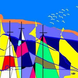 Leo Evans Artwork SAILING ON THE HIGH SEA, 2004 Crafts, Abstract