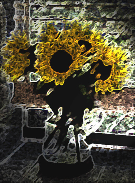 Leo Evans  'SUNFLOWER 6', created in 2006, Original Photography Color.