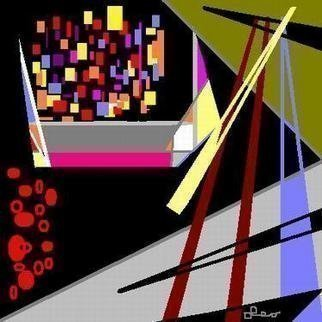 Leo Evans: 'TEMPE THOUGHTS', 2004 Computer Art, Abstract.