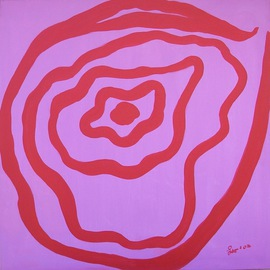 Leo Evans Artwork THINK PINK 4 BREAST CANCER RESEARCH 3, 2003 Acrylic Painting, Inspirational