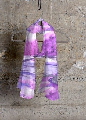 Leo Evans: 'The Purple One', 2016 Other, Digital. Artist Description:     Digital Art on fabric  Cashmere Silk Scarf