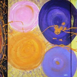 Leo Evans: 'The separation of the galaxies, forming planets and the creation of EARTH Full 1', 2010 Acrylic Painting, Cosmic. Artist Description:        A spontaneous moment when I started this set of paintings, before I even laid the brush on the canvas this design was already in my mind and core. The entire set was created over a period of 5 days' in May of 2010an galactic creative flow that ...