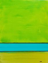 Leo Evans Artwork shades of green, 2021