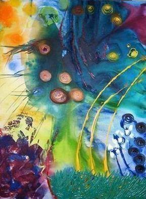 Leo Evans Artwork the fifth day of creation, 2007 Mixed Media, Abstract