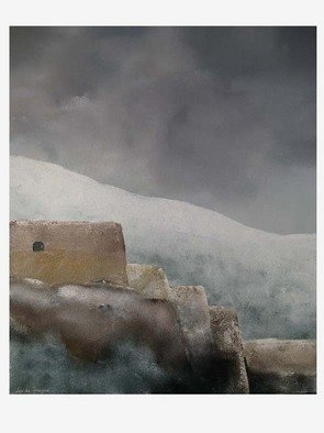 Landscape Acrylic Painting by Leo De Freyne Title: The Fortress, created in 2007